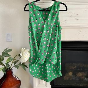 Ro & De Hi-Lo Tunic Tank Pineapple Green, Sz M